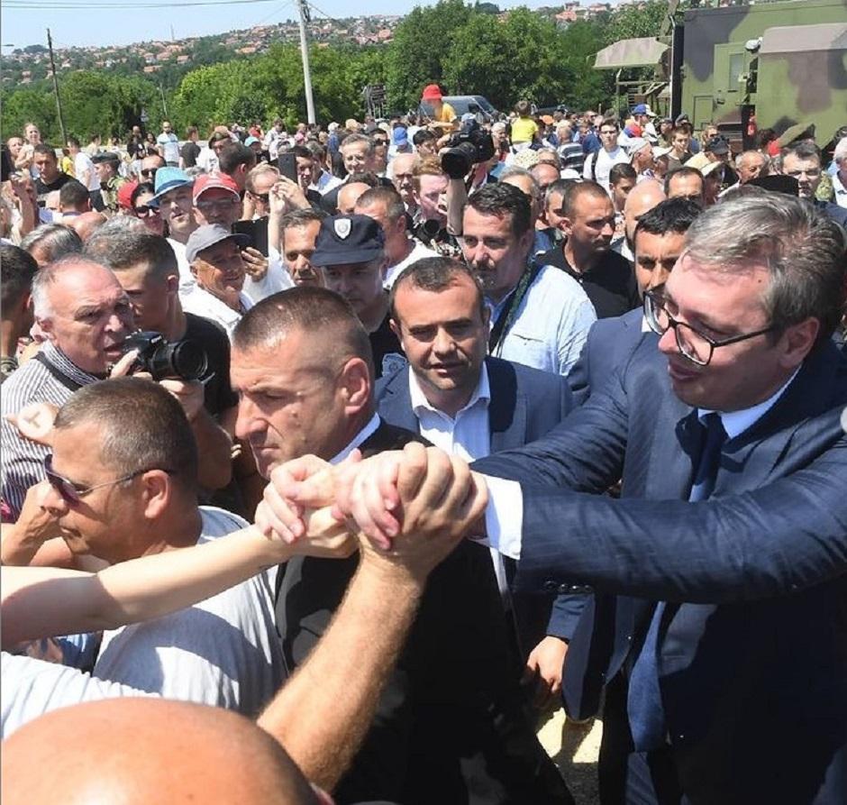 Aleksandar Vučić je danas boravio u Kragujevcu FOTO: Printscreen/Instagram