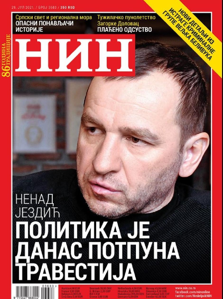 Naslovna strana NIN-a FOTO: Printscreen