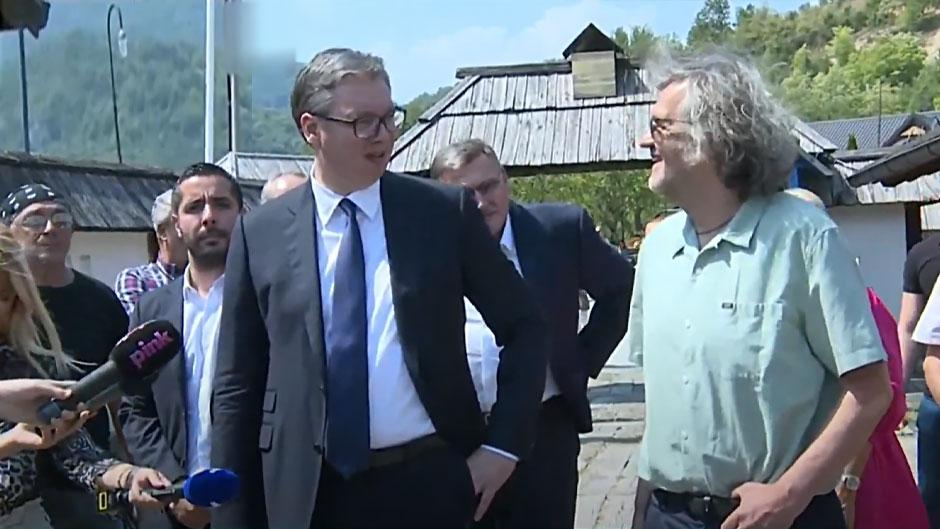 Aleksandar Vučić u Mećavnik FOTO: Printscreen