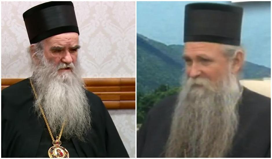 Blaženopočivši mitropolit crnogorsko-primorski Amfilohije i novoizabrani mitropolit Joanikije