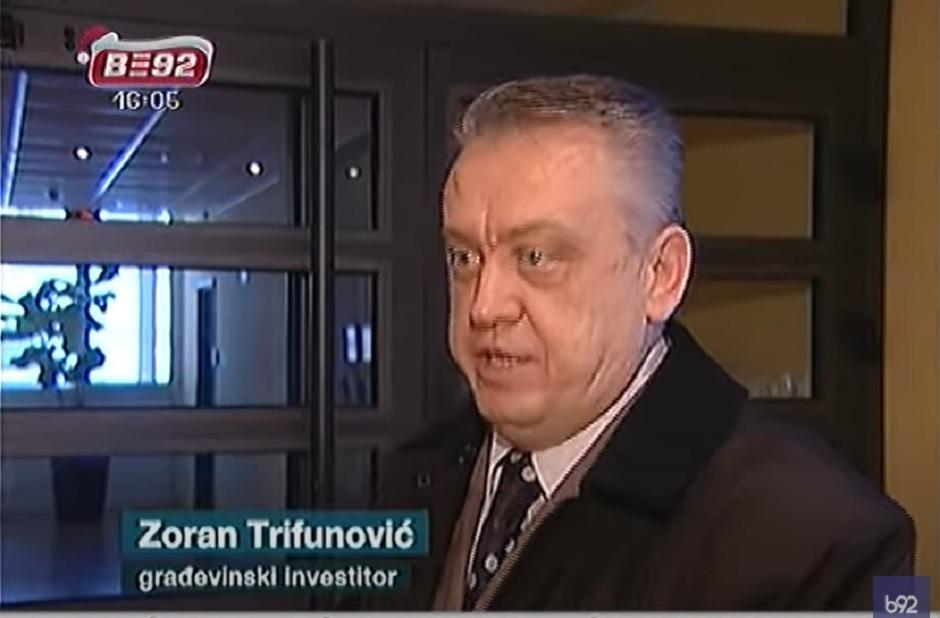 Zoran Trifunović, ubijeni građevinski investitor FOTO: Printscreen