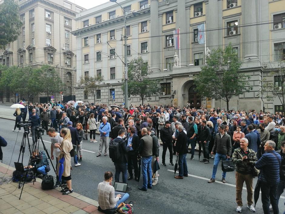 Protest u Nemanjinoj FOTO: I. Kuzmanović