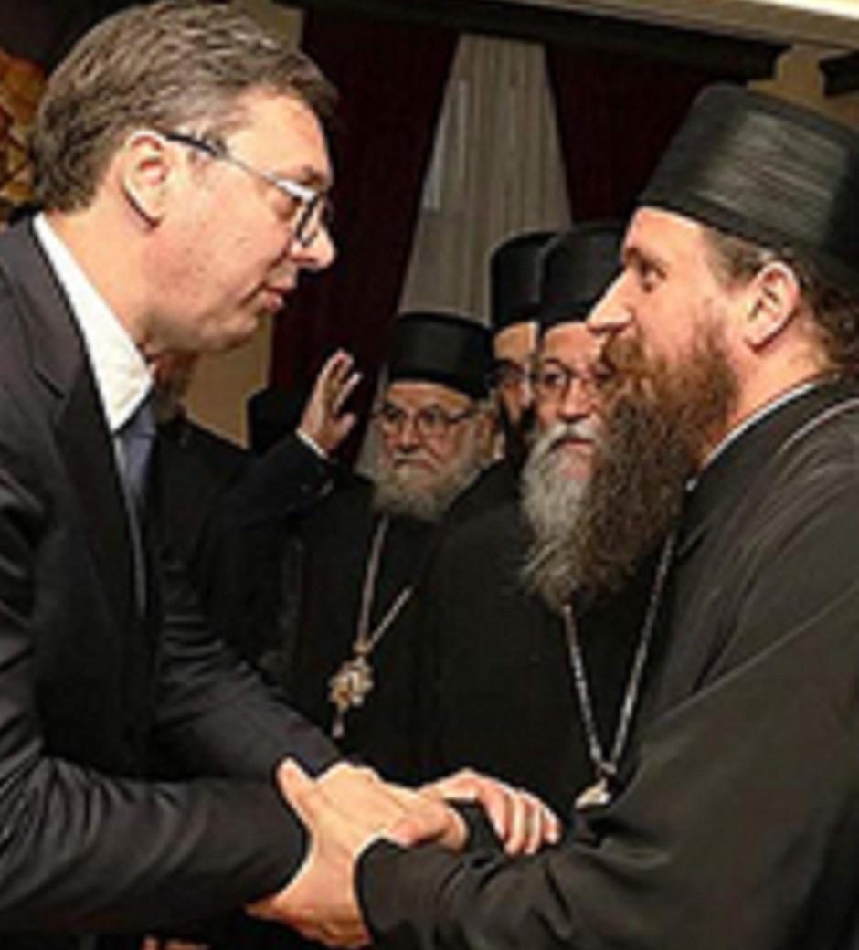 Vladika Sergije i Vučić FOTO: SPC