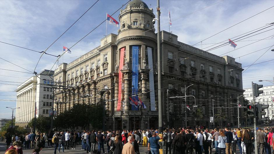Protesst advokata u Beogradu Foto: Direktno