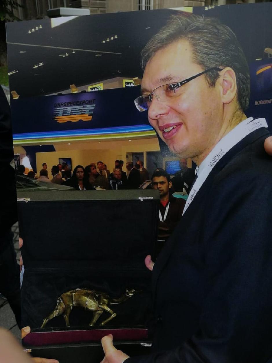 Predsednik je poklon primio Foto: I. Kuzmanović
