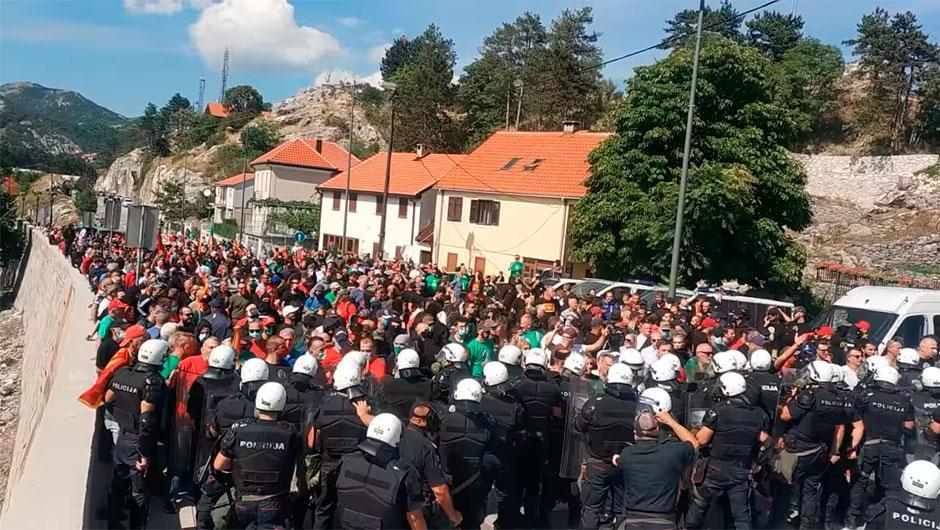 Protest na Cetinju FOTO: Printscreen