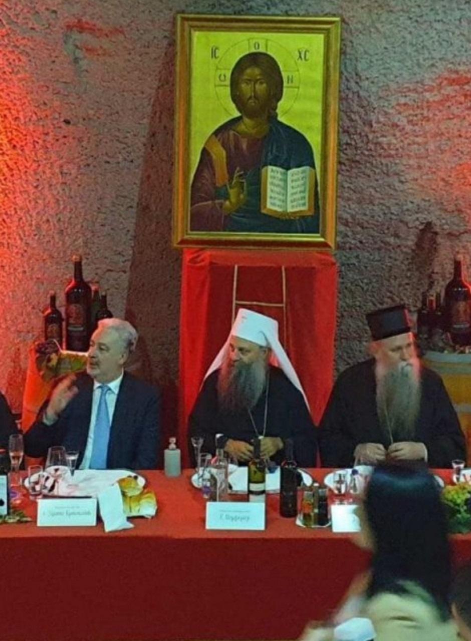 Krivokapić, Porfirije i Joanikije na ručku FOTO: Privatna arhiva