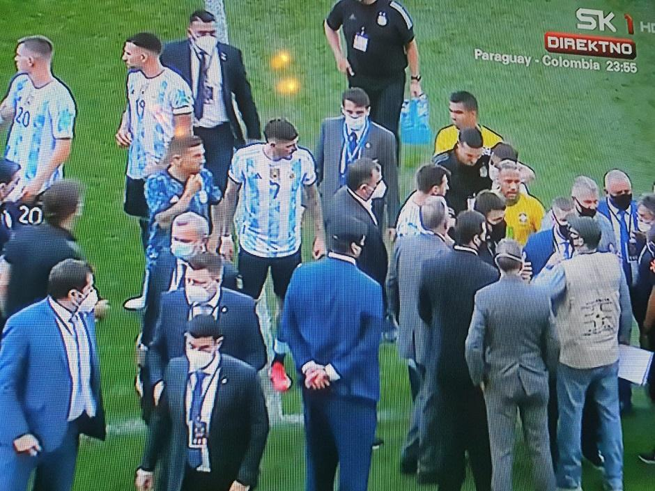 Sao Paolo: Brazil - Argentina, prekid utakmice, FOTO: Printscreen