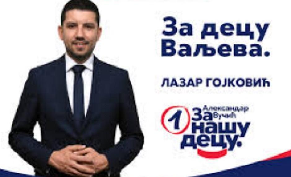Lazar Gojković, predsednik opštine Valjevo