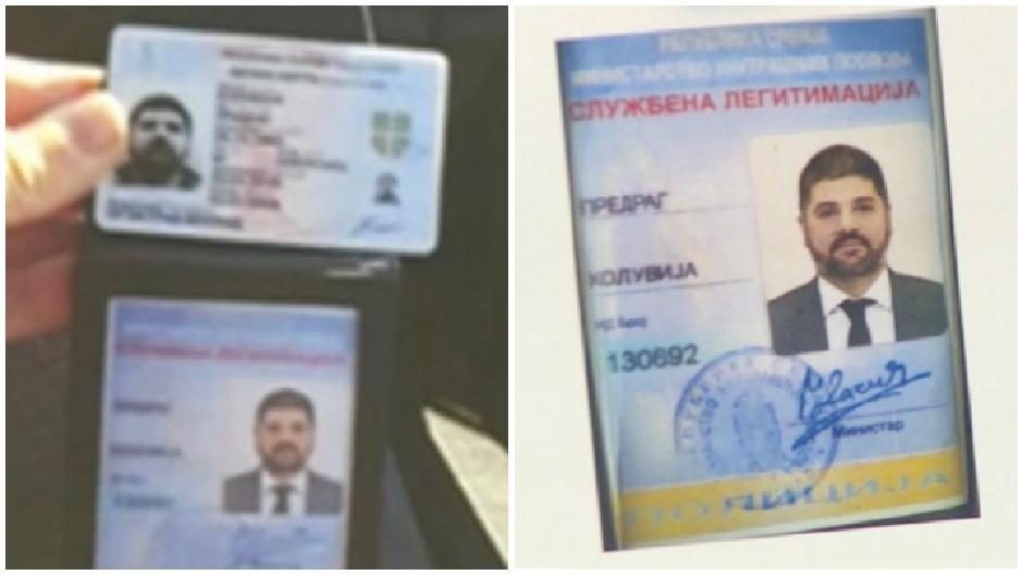 Falsifikovana legitimacija prilikom hapšenja, koja je dokazni materijal na sudu FOTO: Printscreen