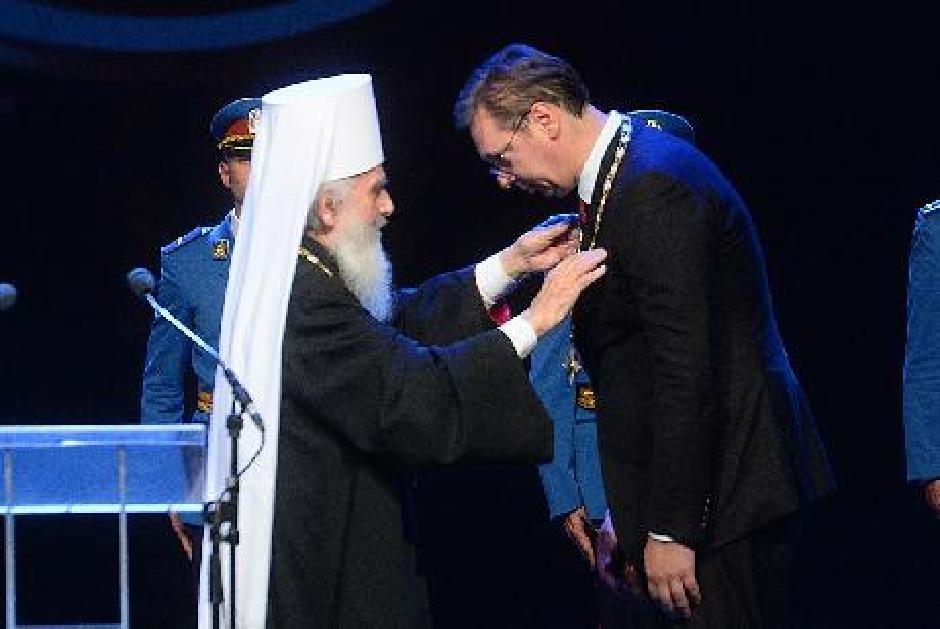 Patrijarh je dodelio Vučiću Orden Svetog Save prvog stepena Foto: Beta