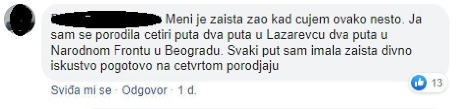 Komentari majki o uslovima u porodilištima u Srbiji FOTO: Printscreen