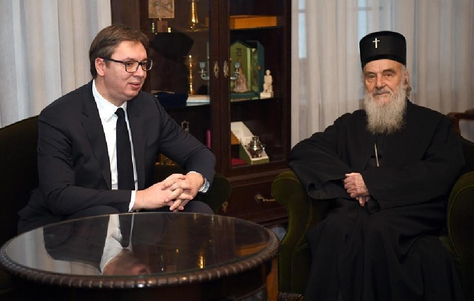 Aleksandar Vučić i patrijarh Irinej, Foto: Beta/Dimitrije Goll