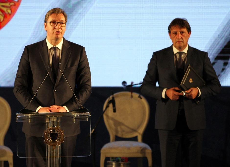 Aleksandar Vučić i Bratislav Gašić FOTO: Ata Images/Antonio Ahel