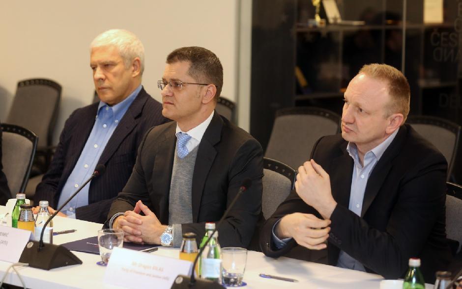 Lideri opozicije: Boris Tadić, Vuk Jeremić i Dragan Đilas, Foto: Direktno.rs
