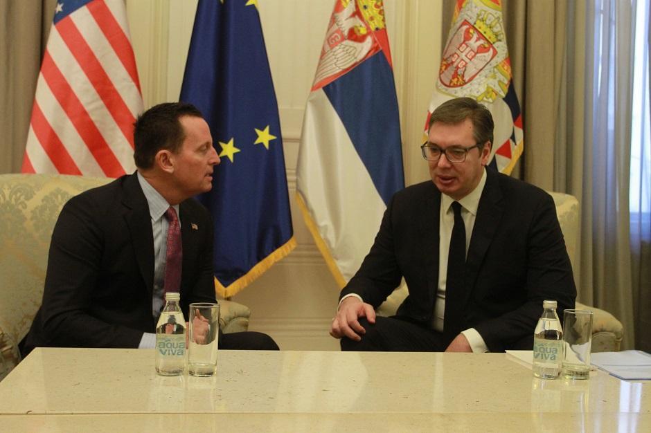Ričard Grenel i Aleksandar Vučić, Foto: AtaImages