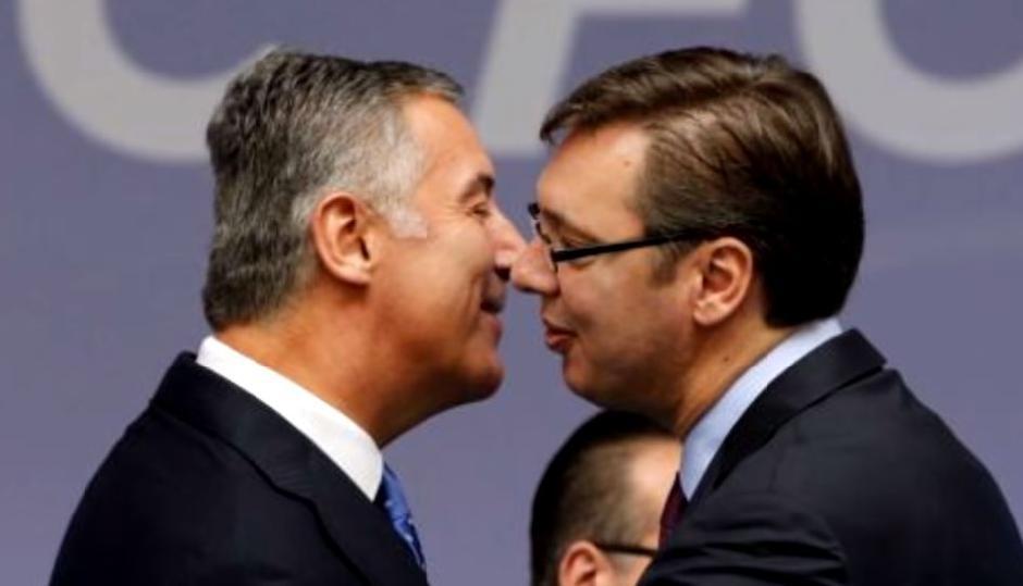 Aleksandar Vučić i Milo Đukanović Foto: Printscreen