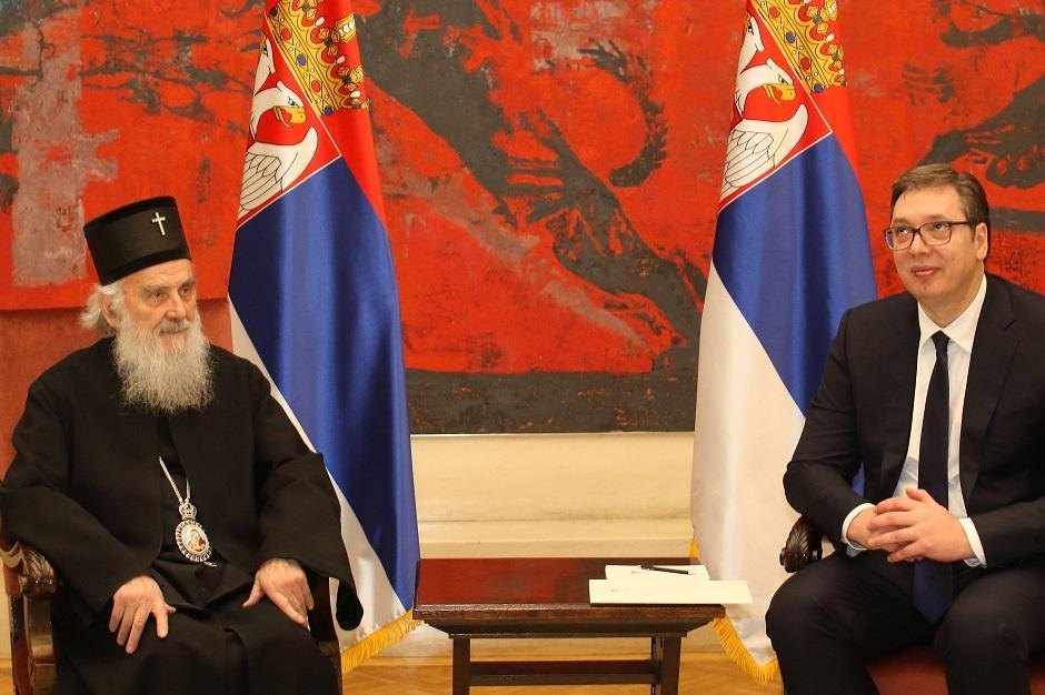 Aleksandar Vučić se večeras sastao sa patrijarhom Irinejom, Foto: Beta/Emil Vas