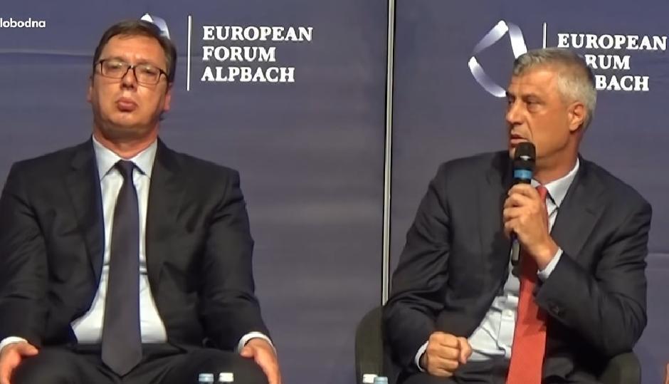 Aleksandar Vučić i Hašim Tači FOTO: Printscreen/YouTube