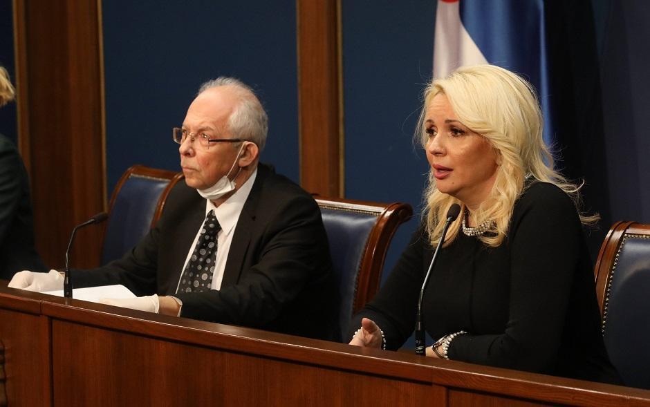 Predrag Kon i Darija Kisić-Tepavčević, Foto: Beta